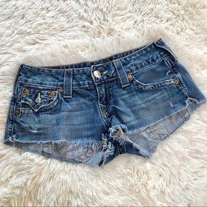 True Religion | Joey Cutoff Short Jean Shorts 27